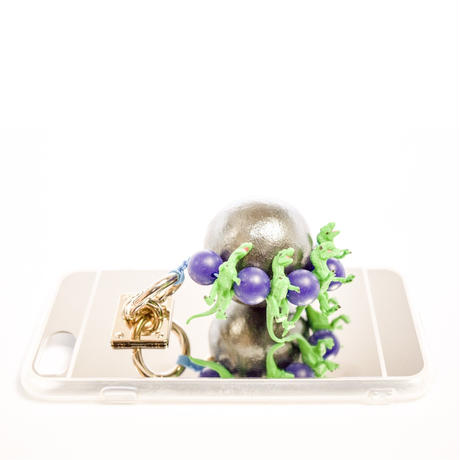 iphoneケース t-rex (ネイビー)