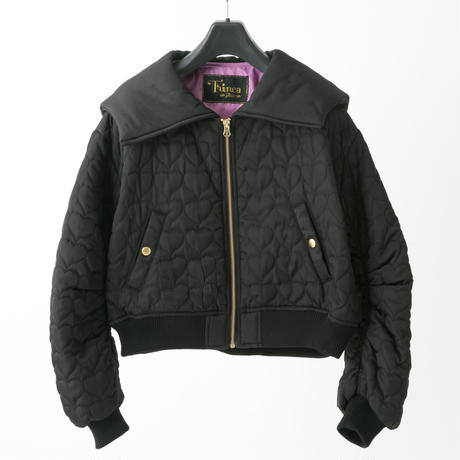 Quilted jacket (black)