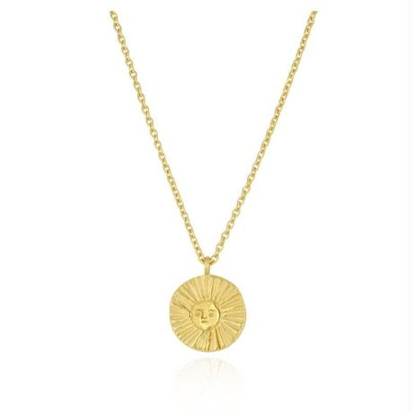 Sun disc necklace gold vermeil (サンディスク ネックレス ゴールド)