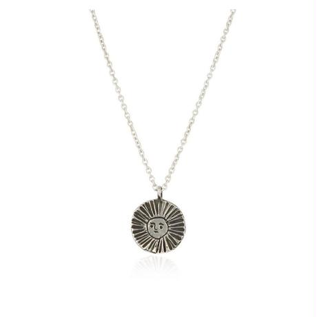 Sun disc necklace oxidised silver (サンディスク ネックレス シルバー)