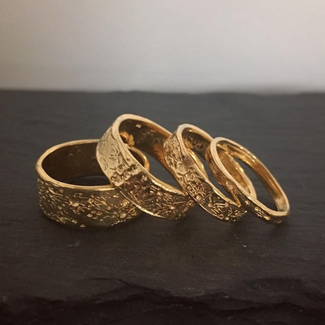 Moon crater ring 6mm gold vermeil (ムーンクレーターリング ゴールド)