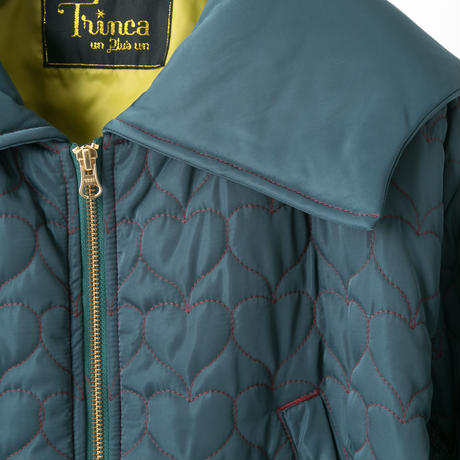 Quilted jacket (dark green)