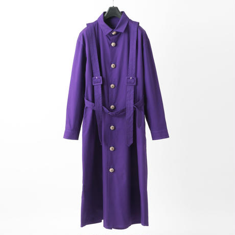 Harness shirt dress (purple)