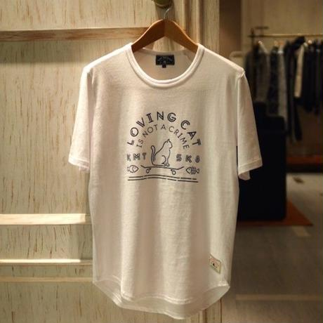 LOVING CAT S/S T-Shirt (WHITE & BLACK)