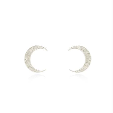 Crescent moon earrings silver (クレセントムーンピアス シルバー)