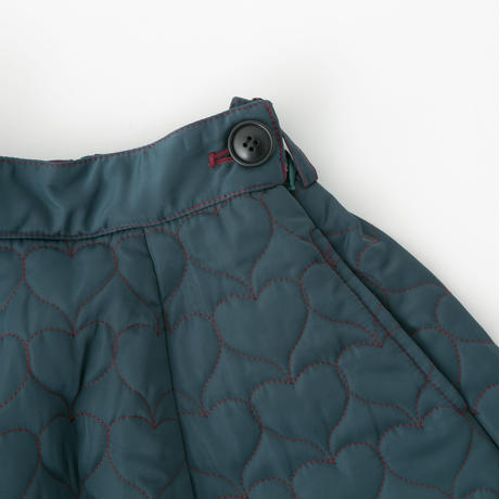 Quilted skirt (dark green)