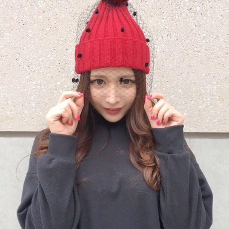 ベールニット帽