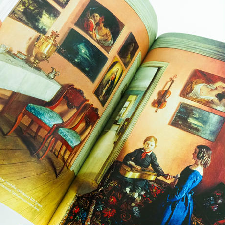 ロシア絵画の中のインテリア