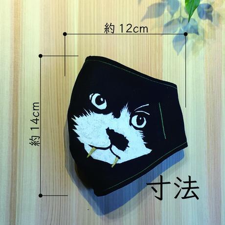 ウコン染め抗菌マスク 保護猫・カンカン/糸青