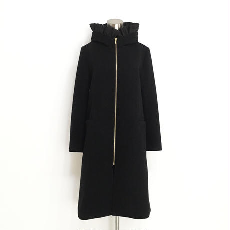 【再入荷】FRILL HOODED COAT