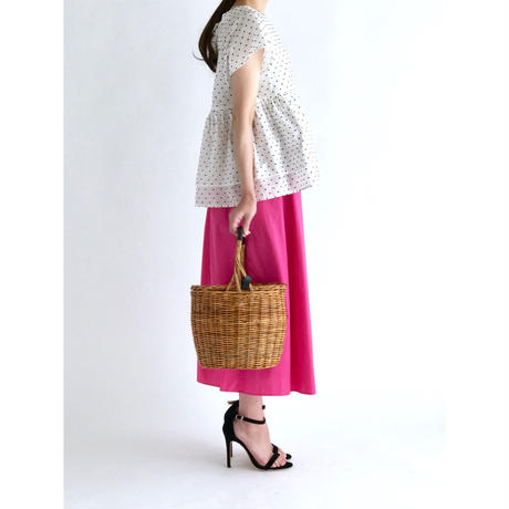 COTTON GATHER SKIRT