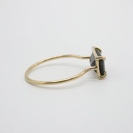 k18  Smoky Tourmaline Ring