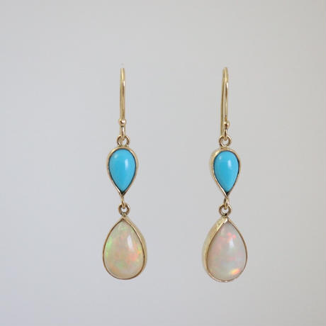 K18 & OPAL TOURMALINE EARRINGS