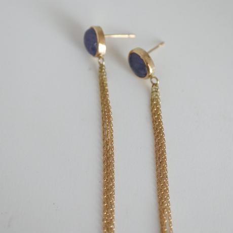 K18 TANZANITE CHIN EARRINGS