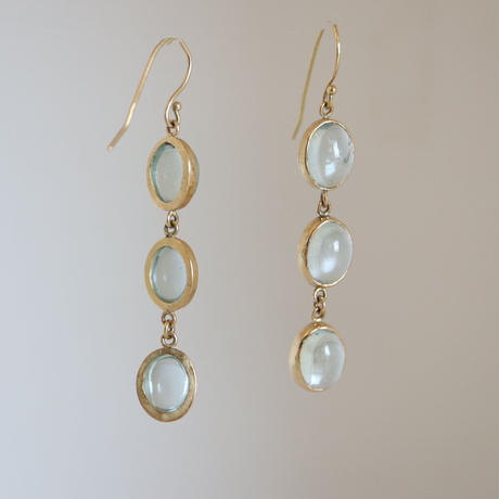 K18&AQUAMARINE EARRINGS