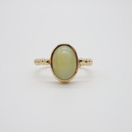 k18 Oval Opal Cats Eye Ring