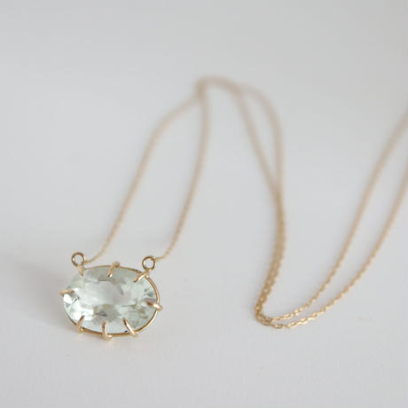 K18 & GREEN AMETHYST NECKLACE