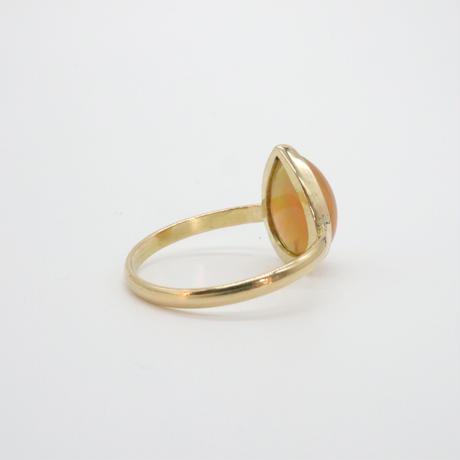 18k &  PearShape Opal Ring