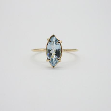 k18  &  Marquise Aquamarine Ring