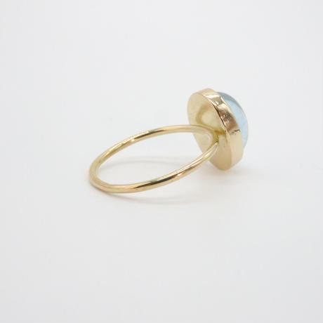 18k  &  Oval Aqua marine Ring