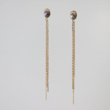 K18 & MOON STONE CHIN EARRINGS