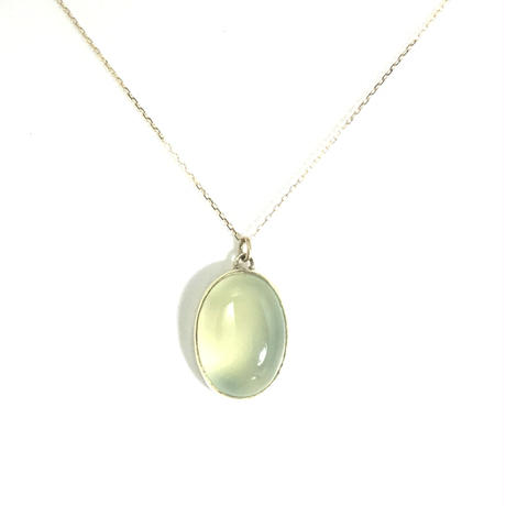 K18 CHALCEDONY NECKLACE