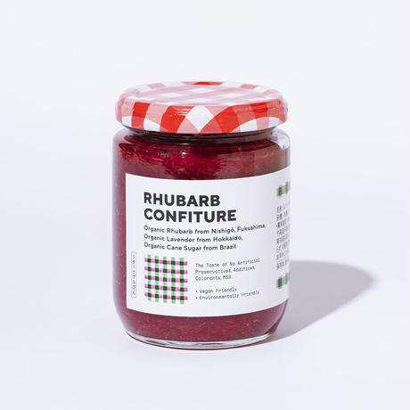 RHUBARB CONFITURE/有機ルバーブと有機ラベンダーのジャム
