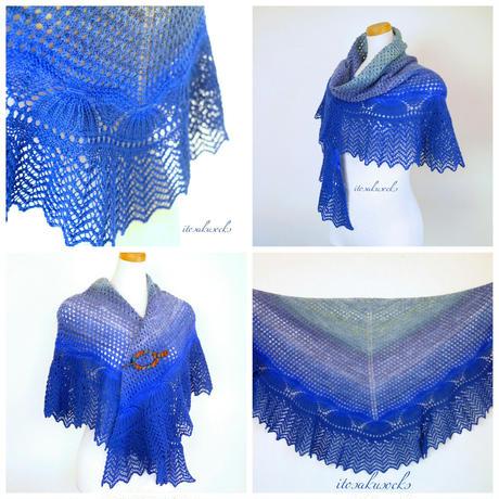 Blue lagoon shawl PDFダウンロードパターン