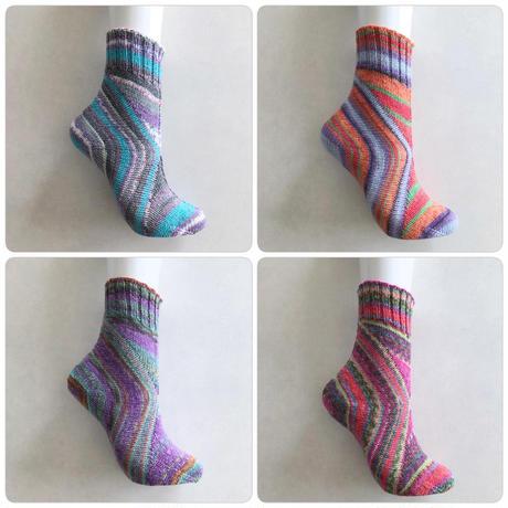 Peafowl socks PDF ダウンロードパターン