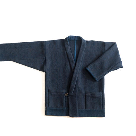 [ハレギジャケット]杉綾織ウールコットン/藍染
