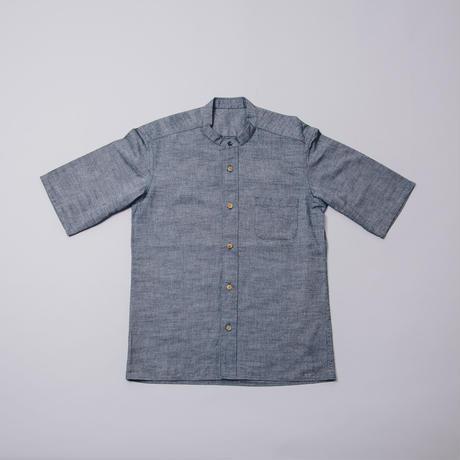 [マチギシャツ]コットン/ インディゴダンガリー