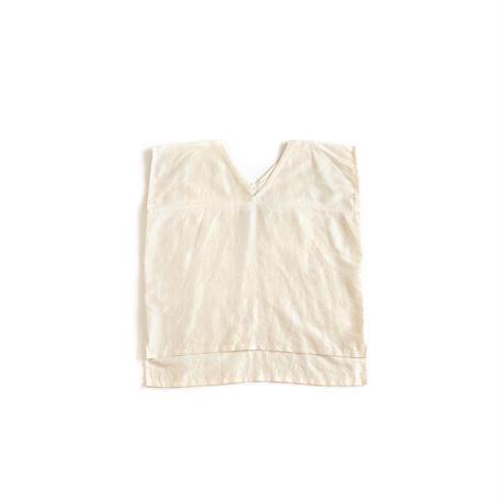 [ハレギシャツ]シルク/生成り