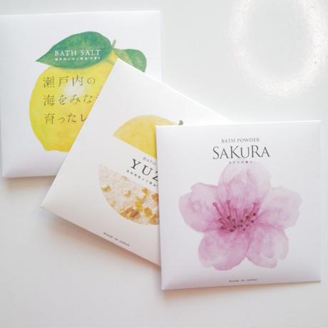 桜/柚子/檸檬 バスソルト 3点セット