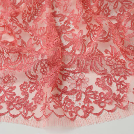 French Leavers Lace 75444.1/85  SALMON PINK