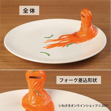 食品サンプルのようなお皿(ナポリタン)【スタッフセレクト商品】