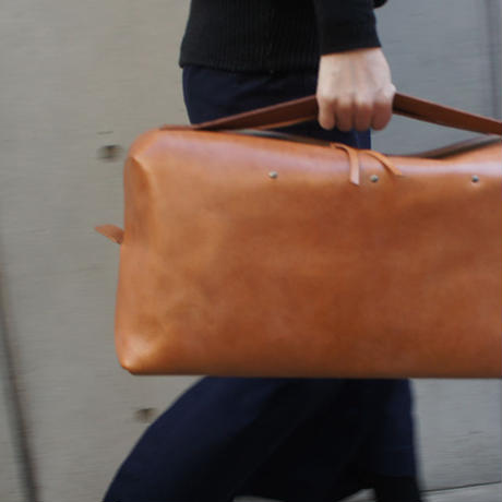 Boston bag/S/Brown/Cow Leather