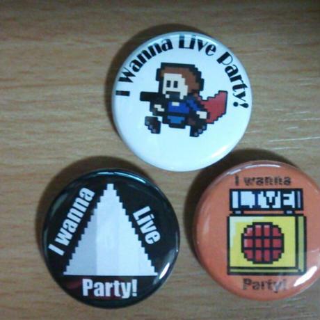 【缶バッチ 3個セット】Live Party!限定デザイン【送料無料!!】