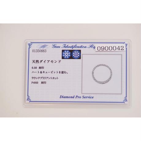 重ねるペンダント  Pt   丸型 M   0.5ct