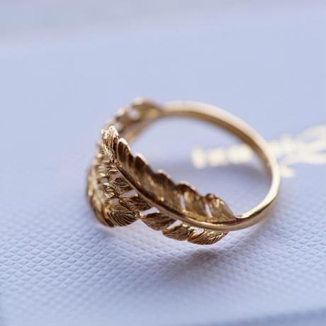 18金羽根のリング