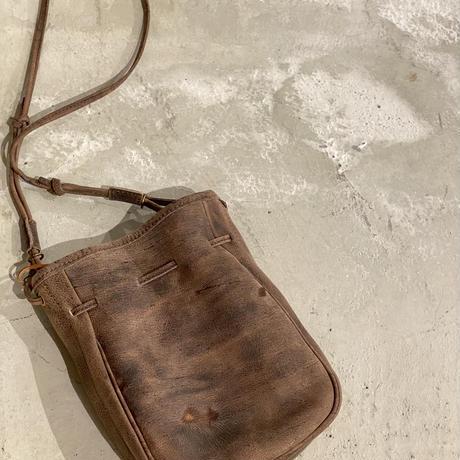 SLOW kudu draw string bag 巾着ショルダー