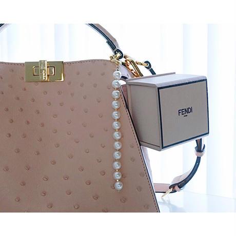 pearl bag charm