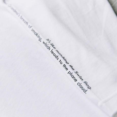 【Long T-shirts】happen switzerland   'Cigarette obacyan'  (H4952-wht)