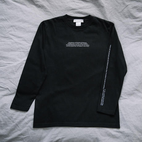 【Long T-shirts】happen switzerland   'Cigarette obacyan'  (H4952-blk)