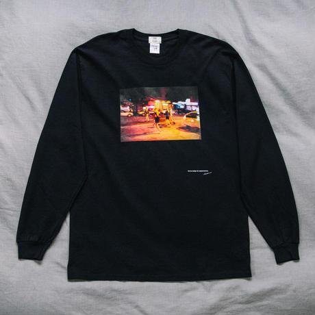 【Long T-shirts】happen New York   'NY NIGHT GIRL'  (19211901TP061-blk)