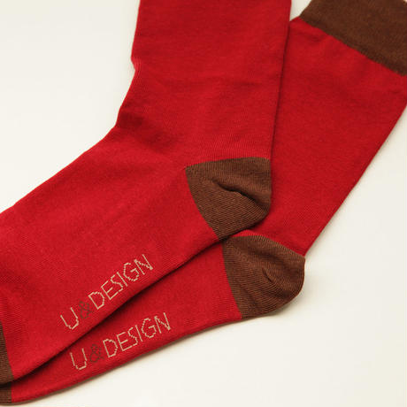 U&DESIGN SOCKS / レッド