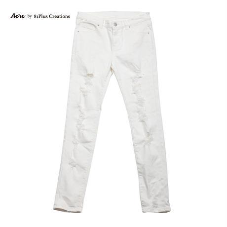 DAMAGE WHITE SLIM FIT 047