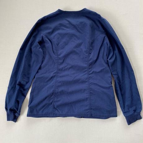 Collarless shirt navy