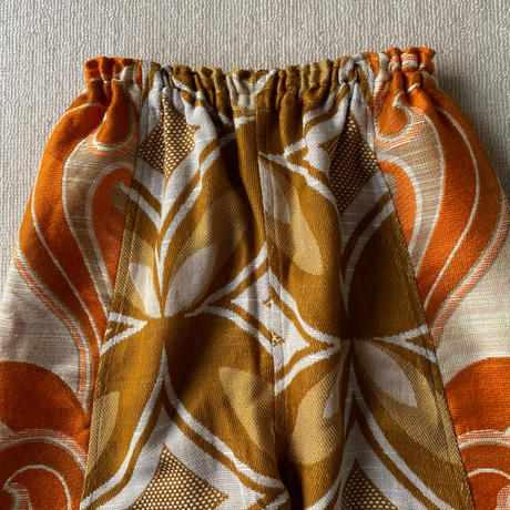 Handmade pants with 70s fabric (Butterfly)