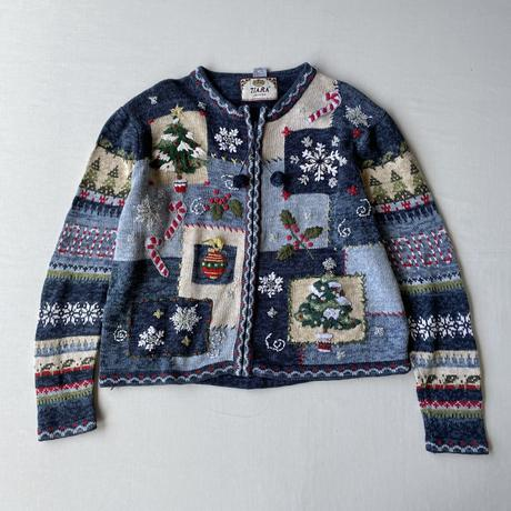 Christmas zip up knit
