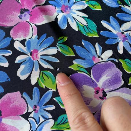 Flower wide shirt